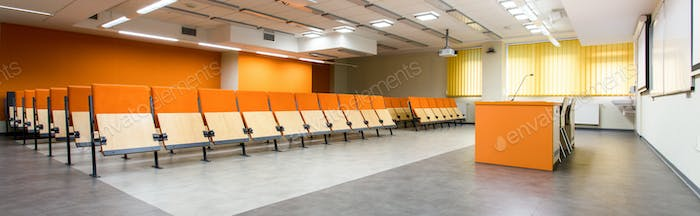 Modern lecture hall in college