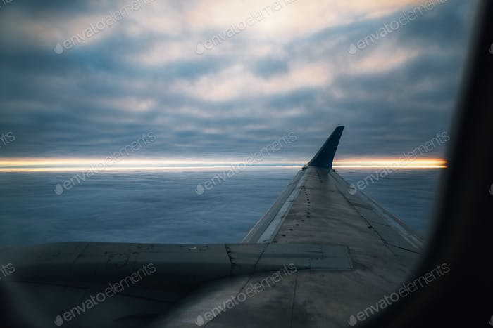 Beautiful view from plane window