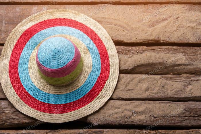 Striped beach hat
