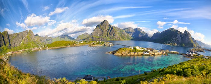 Lofoten summer landscape
