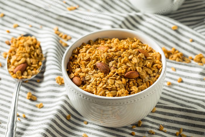 Homemade Baked Honey Almond Granola