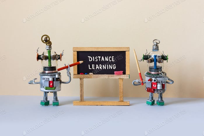 Distance learning and online education concept.