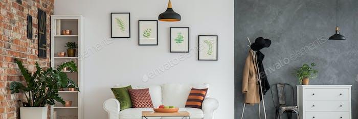 Studio apartment with plants