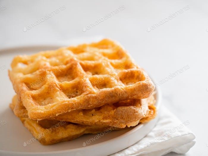 Savory keto two ingredients waffles - chaffles