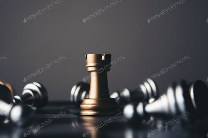 King and Knight of chess setup on dark background .