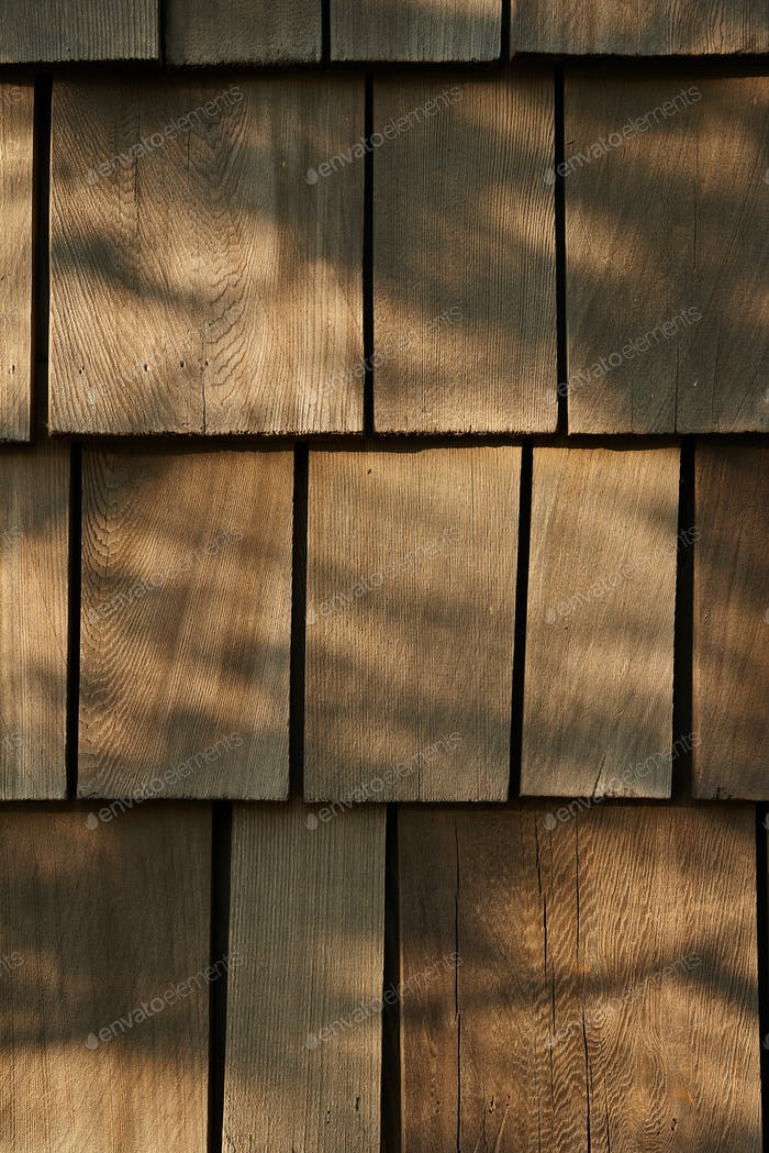 Background of the wooden tile roof