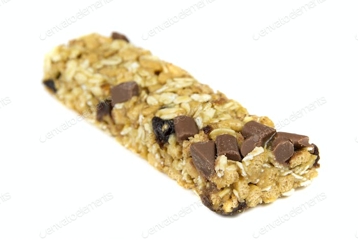 Cereal bars with chocolate