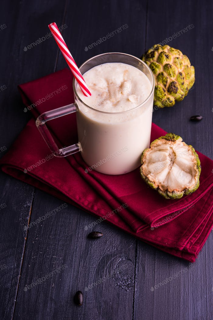 Custard Apple or Sitafal or Sitaphal Milkshake