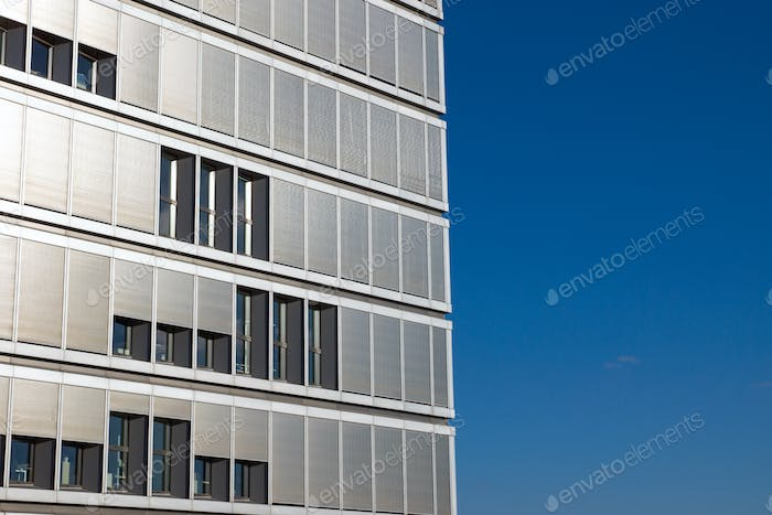Office building with many shutters