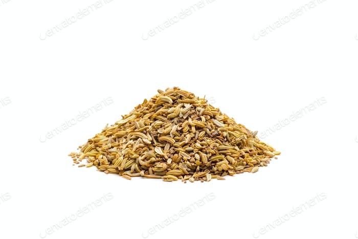 Pile of cumin seeds