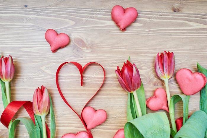 Creative decoration for Valentine's Day