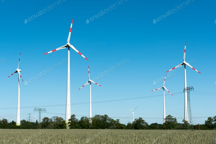 Wind power plant in Germany