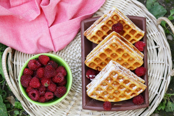 Sweet Waffles with Berries