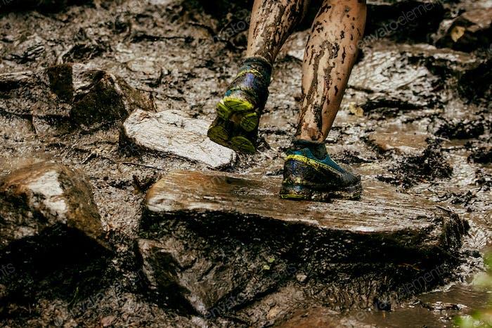 schmutzige Füße Läufer