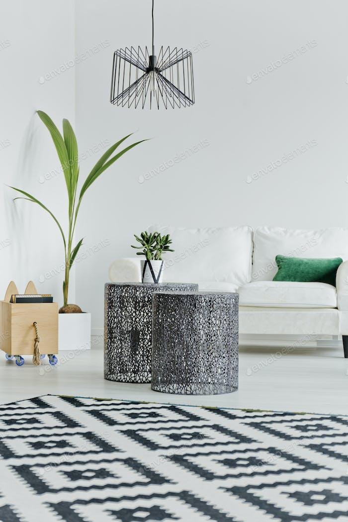 Scandinavian style in living room