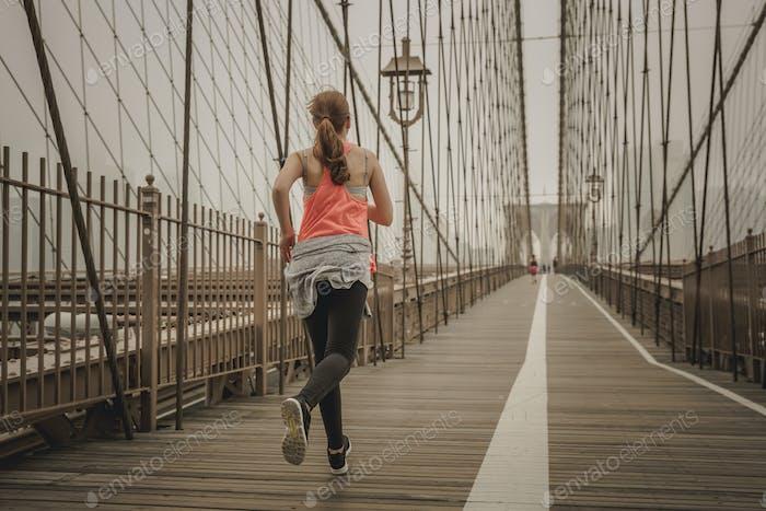 Corriendo en el Puente de Brooklyn