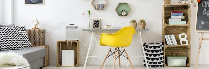 Minimalist and scandinavian style room