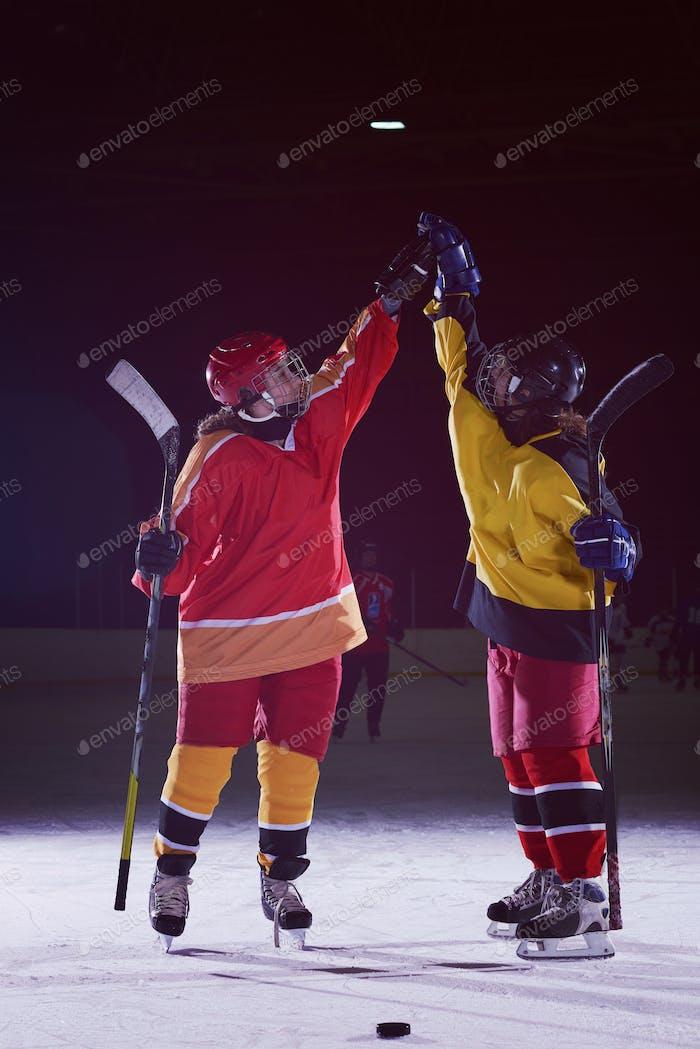 teen Mädchen Eishockeyspieler Porträt
