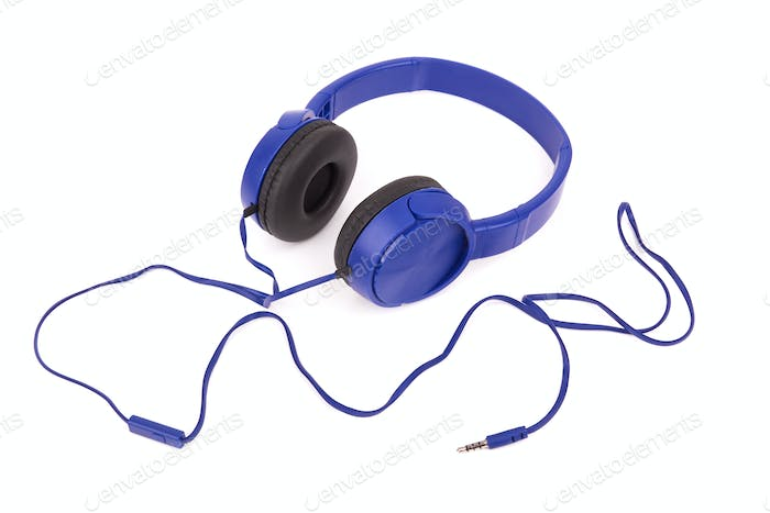 headphones on white