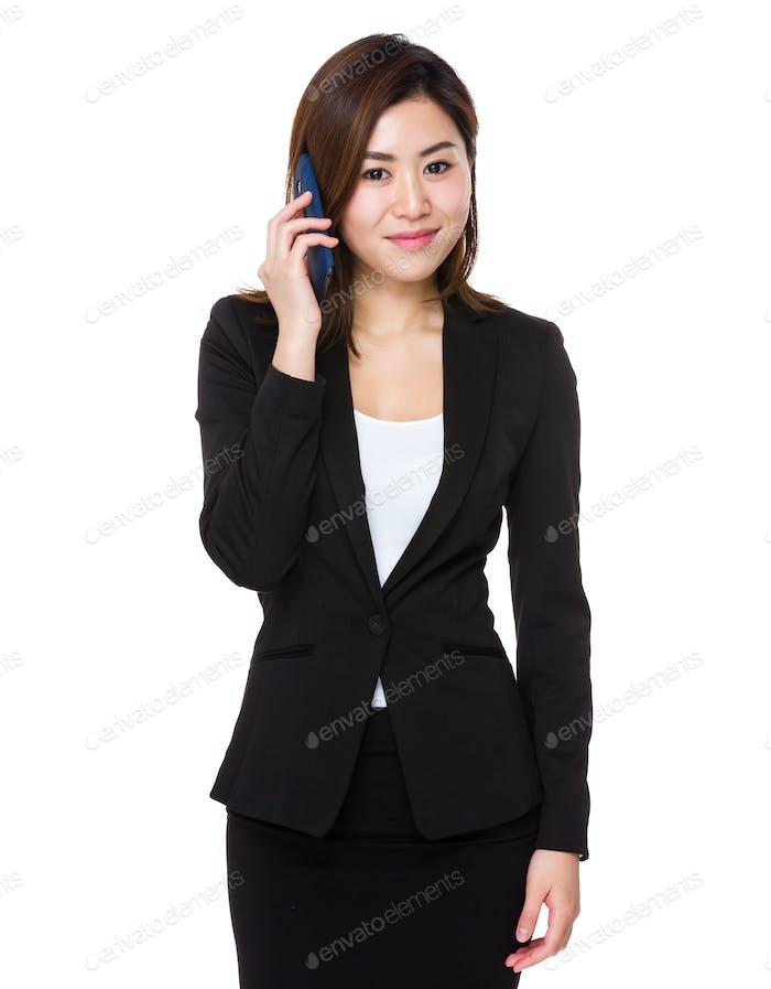 Businesswoman talk to cellphone