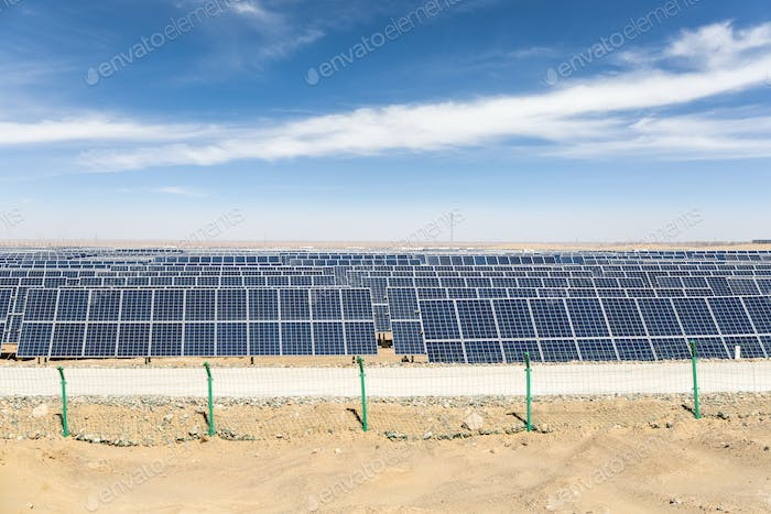 solar energy on gobi desert