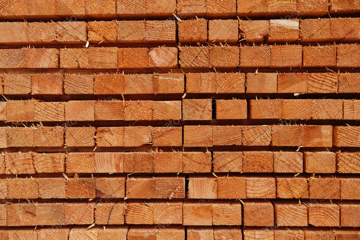 Closeup pattern of cutting wood stack for background