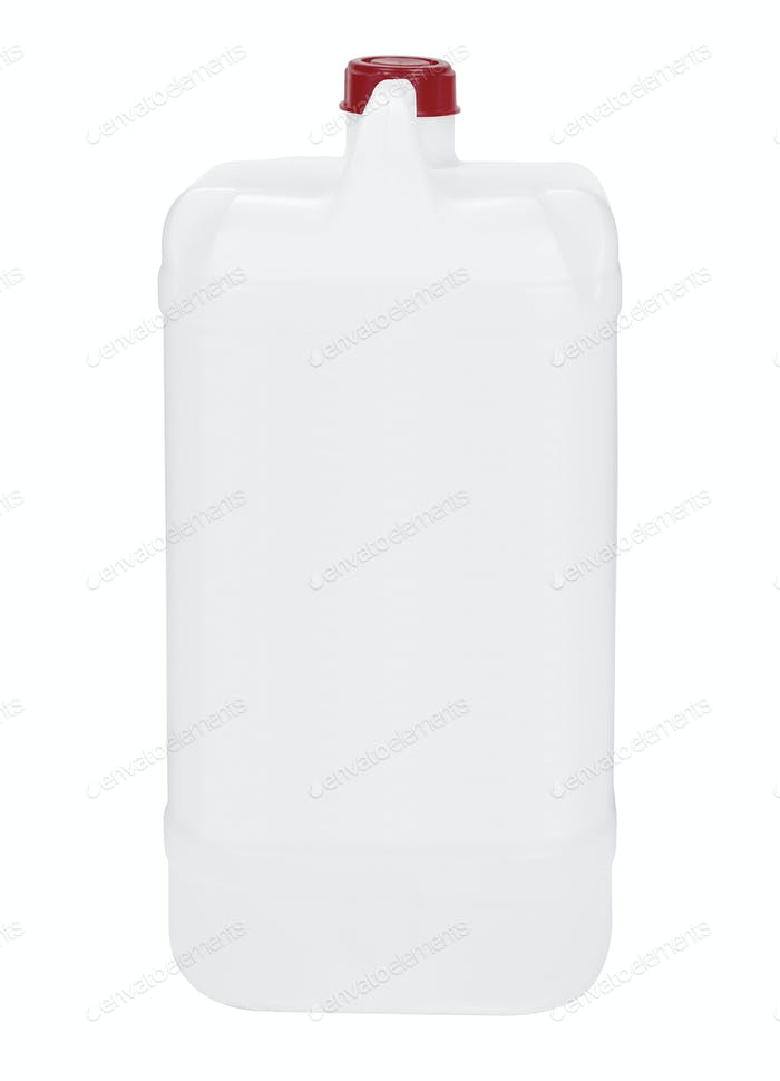 white container on white background
