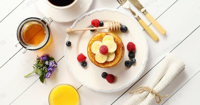 Leckeres Frühstück Essen Zusammensetzung