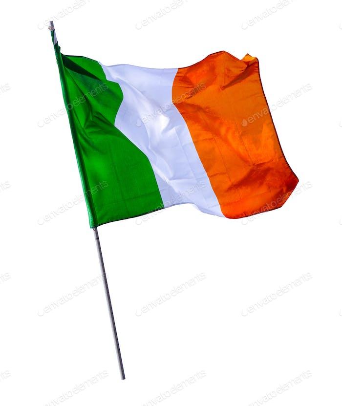 Isolated Irish Flagpole