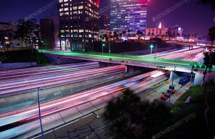 Los Angeles Night Traffic