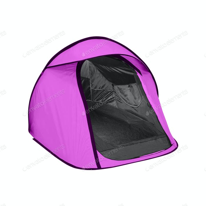 purple tent isolated