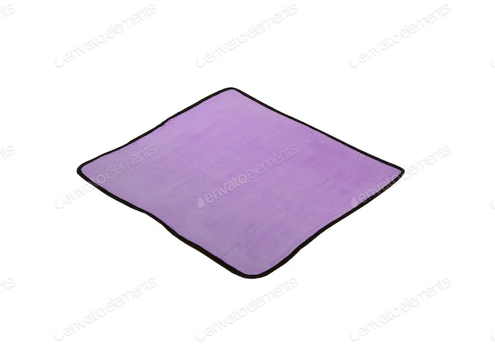 purple napkin isolated on white background