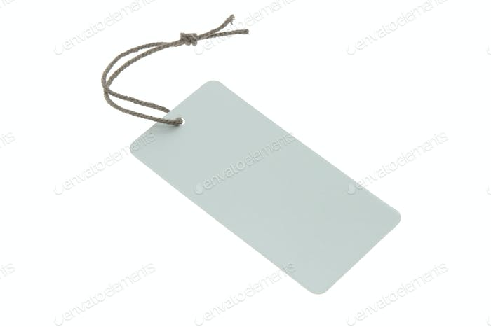 Blank light blue tag