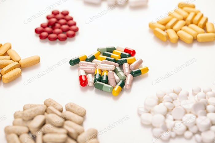 Concept of pills for treatment