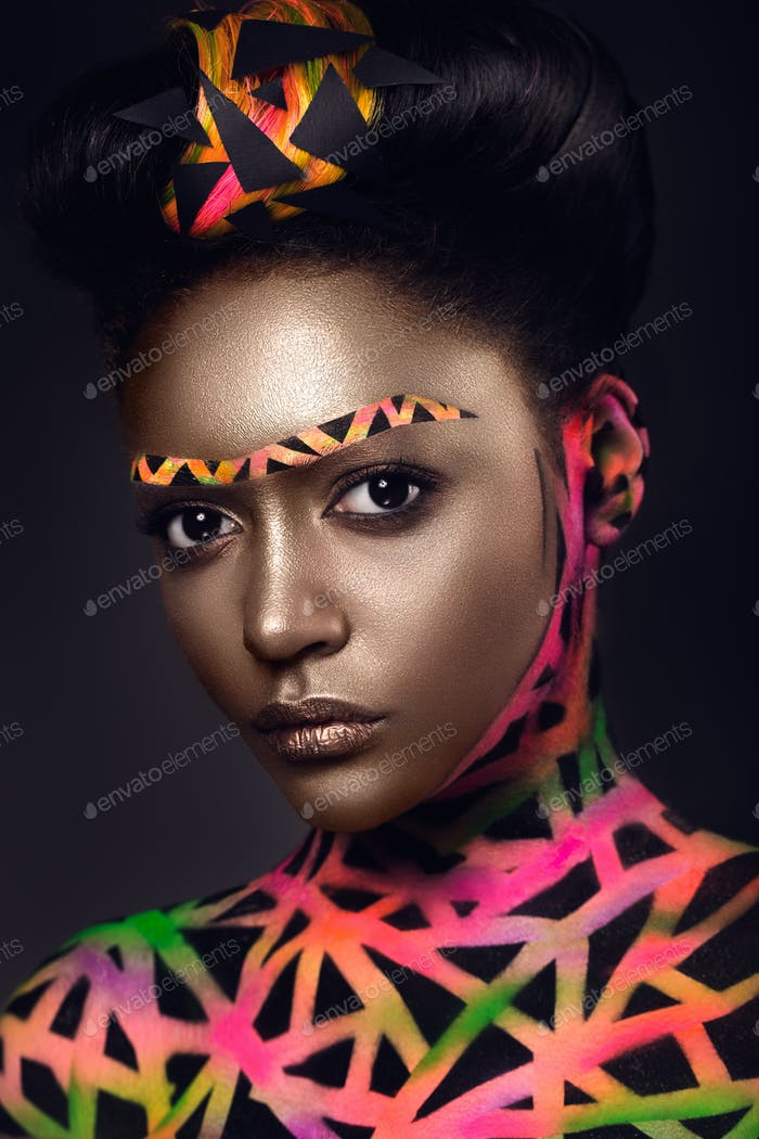 futuristic make up