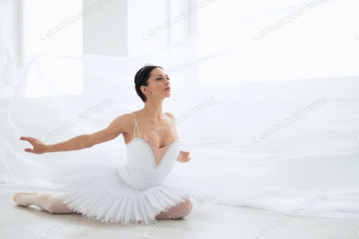 Ballerina in pointe
