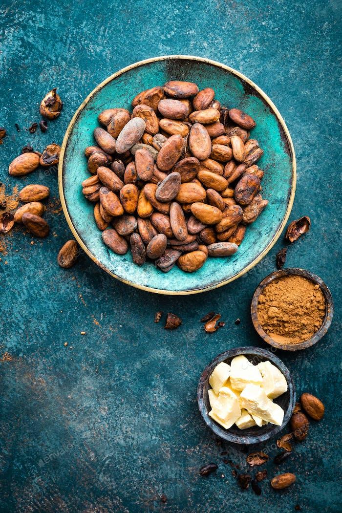 Cocoa beans, cocoa