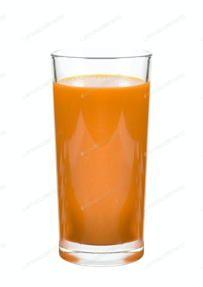 Carrot juice isolated