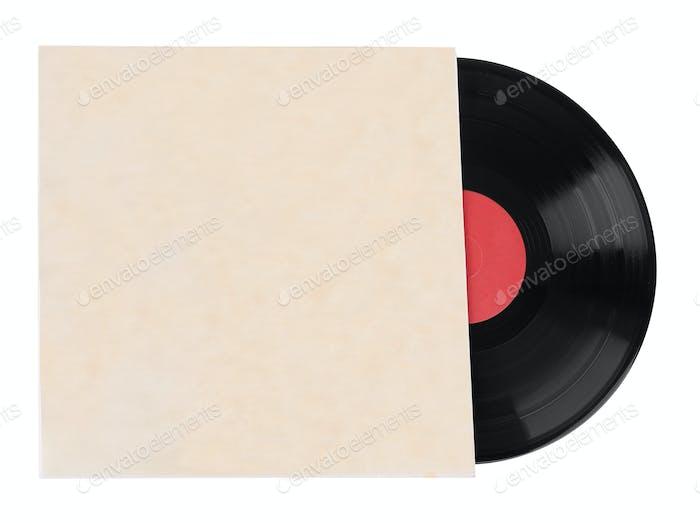 Alte Schallplatten isoliert auf weißem Hintergrund