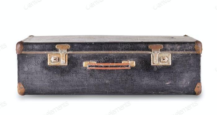 Black suitcase lying