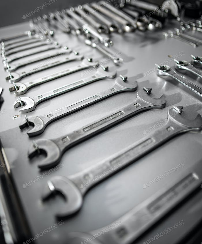 Set of old wrenches
