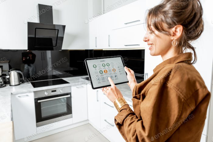 Controlling kitchen appliances with a digital tablet