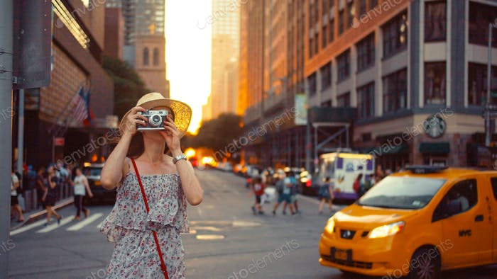 Young photographer in New York