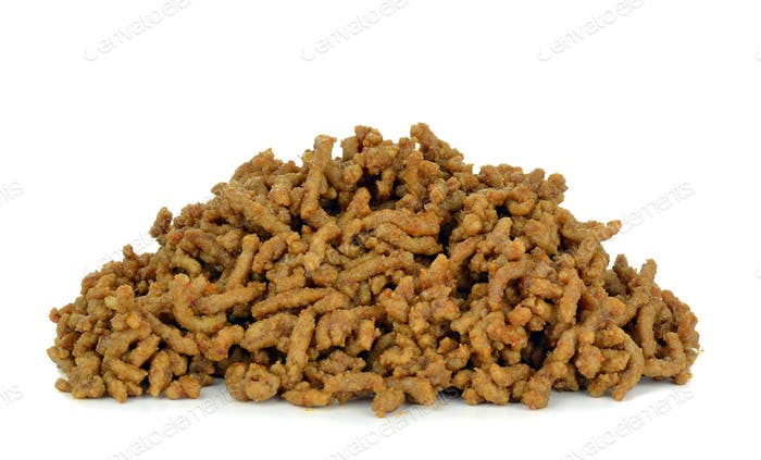 A Portion of Cooked Minced Meat