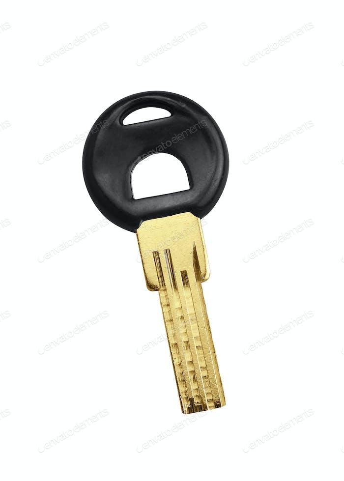 Car key isolated on white