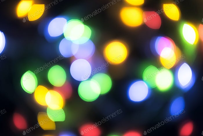 Abstract blurred christmas ligth background