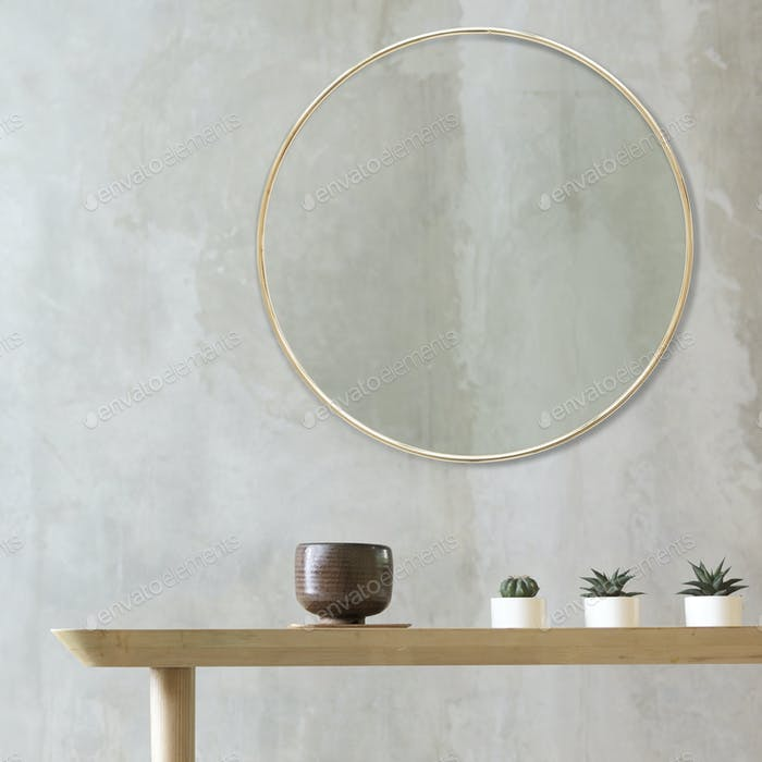Empty Room Table Minimalism Concept