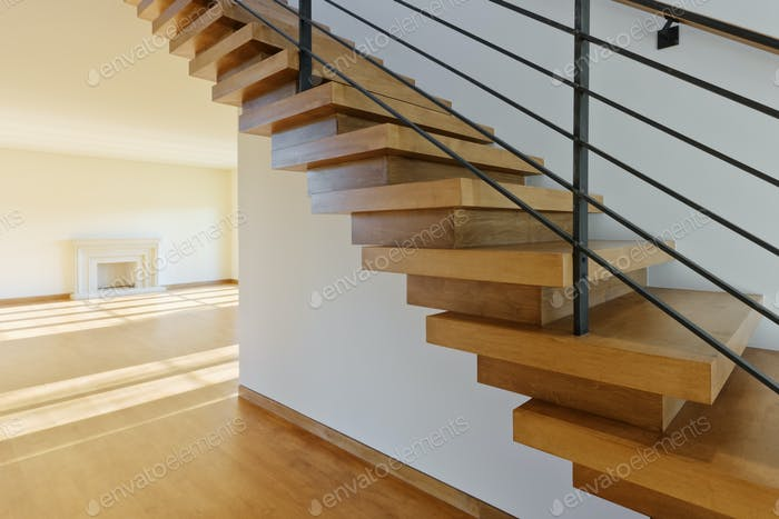 Modern Wood Staircase