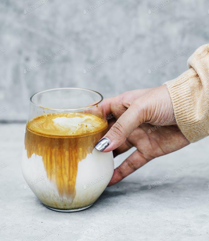 Woman enjoying coffee on the weekend