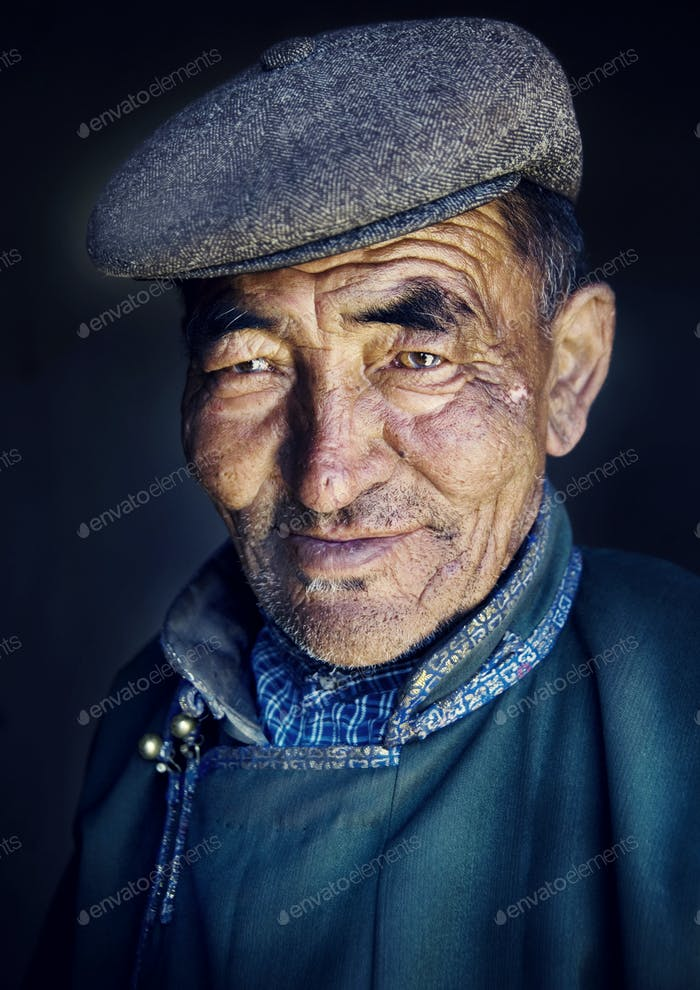 Mongolian Man in Traditional Dress